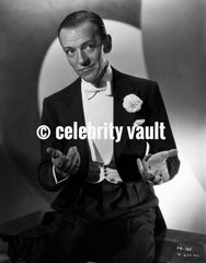 Fred Astaire Posed in a Straight Face Premium Art Print
