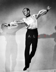 Fred Astaire Seated in Black and White Premium Art Print