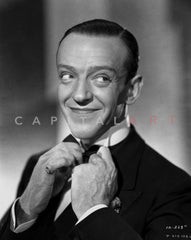 Fred Astaire Posed in Top Hat Black and White Premium Art Print