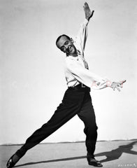 Fred Astaire Playing Golf with Long Sleeves Premium Art Print