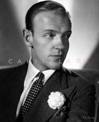 Fred Astaire Suit Posed in Black and White Premium Art Print