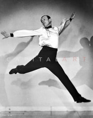 Fred Astaire on Miniature Building Premium Art Print