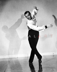Fred Astaire Posed in Classic Portrait Premium Art Print