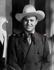 Gene Autry Holding an Acoustic Guitar Premium Art Print