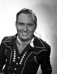 Gene Autry Posed with Horses Premium Art Print