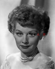 Lucille Ball smiling with Man Premium Art Print