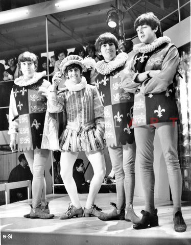 Beatles Group Picture in Musketeer Outfit Premium Art Print