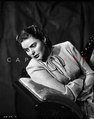 Ingrid Bergman Leaning on Post and Hand on Waist Premium Art Print