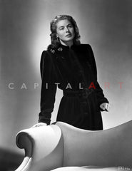 Ingrid Bergman Chin on Fingers in Long Sleeve Blouse Premium Art Print