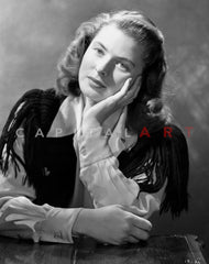 Ingrid Bergman Reading in a Nun Attire Premium Art Print