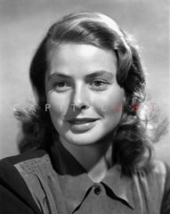 Ingrid Bergman Posed in a Black Blouse Premium Art Print