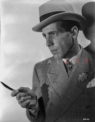 Humphrey Bogart portrait in sports coat Premium Art Print