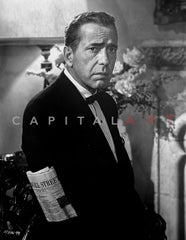 Humphrey Bogart laying down Premium Art Print