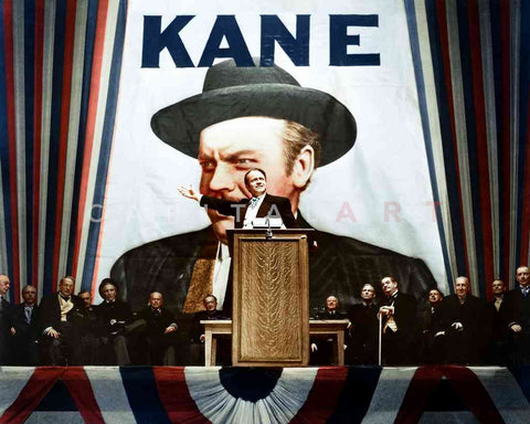 "Orson Welles plays Kane on the Campaign Trail in ""Citizen Kane,"" 1941"