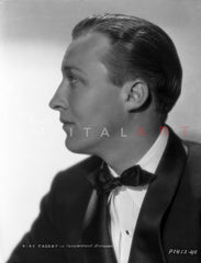 Bing Crosby Discussing with Man, wearing Tuxedo Excerpt from Film Premium Art Print
