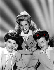 Andrew Sisters on Checkered Top Portrait Premium Art Print