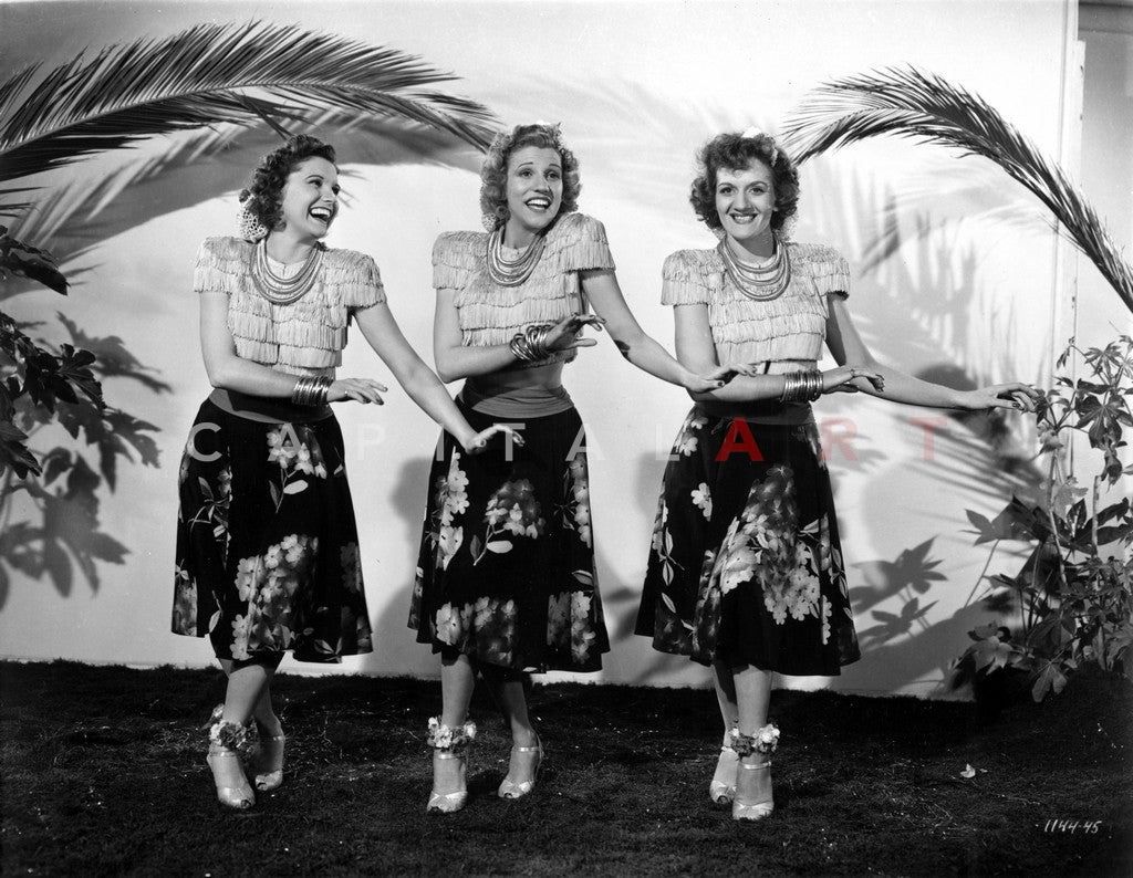 Andrew Sisters on Skirt Dancing Premium Art Print