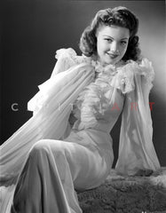Anne Baxter standing and Hand on Waist Premium Art Print