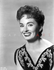 Ann Blyth on a Serious Portrait Premium Art Print