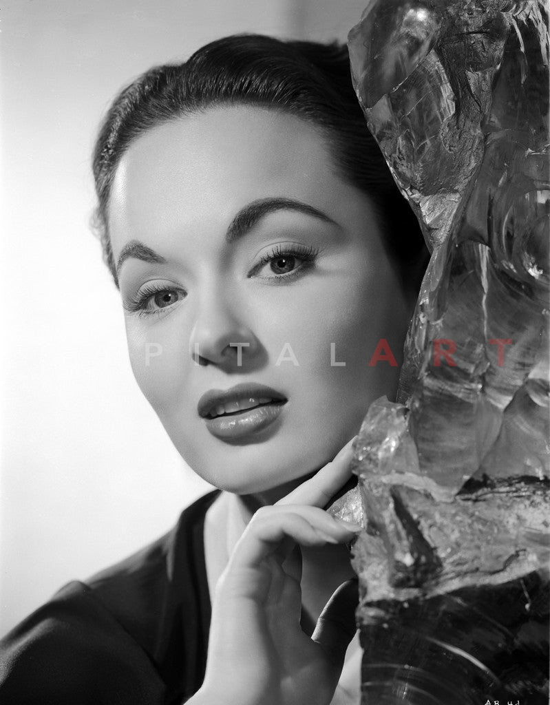 Ann Blyth on an Embroidered Top Premium Art Print