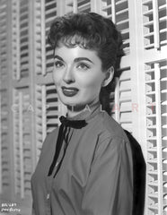 Ann Blyth wearing a Leather Coat in Portrait Premium Art Print