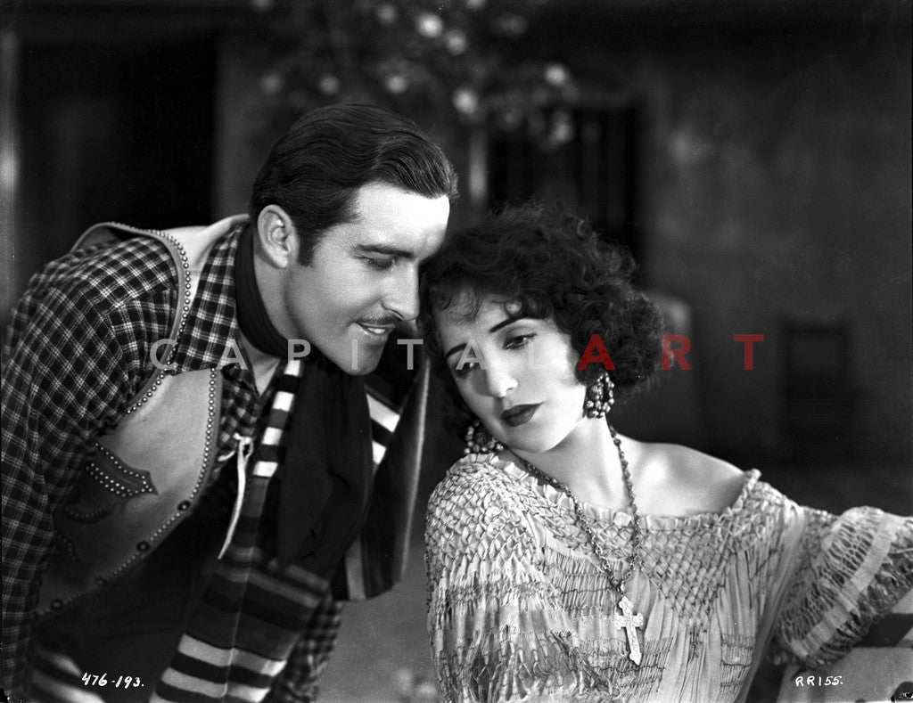 Bebe Daniels Leaning Back Her Head on the Man's Shoulder in Knitted Dress Premium Art Print