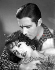 Bebe Daniels Kissing the Man while Holding His Head near the Ears in Tube Dress Premium Art Print