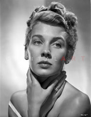 Betsy Drake Portrait in Black High Neck Long Sleeve Shirt Premium Art Print