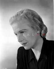 Ann Harding Facing on the Right wearing a Black Blouse in Portrait Premium Art Print
