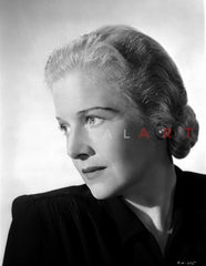 Ann Harding Looking Away From the Camera wearing a Black Blouse in Portrait Premium Art Print