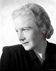 Ann Harding Looking Sad wearing Black Blouse in Portrait Premium Art Print
