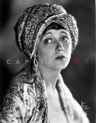 Barbara Lamarr on a Hat with a Signature Premium Art Print