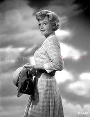 Angela Lansbury on a Dress standing and posed Premium Art Print