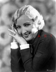 Bessie Love on a Lace Top standing and smiling Premium Art Print