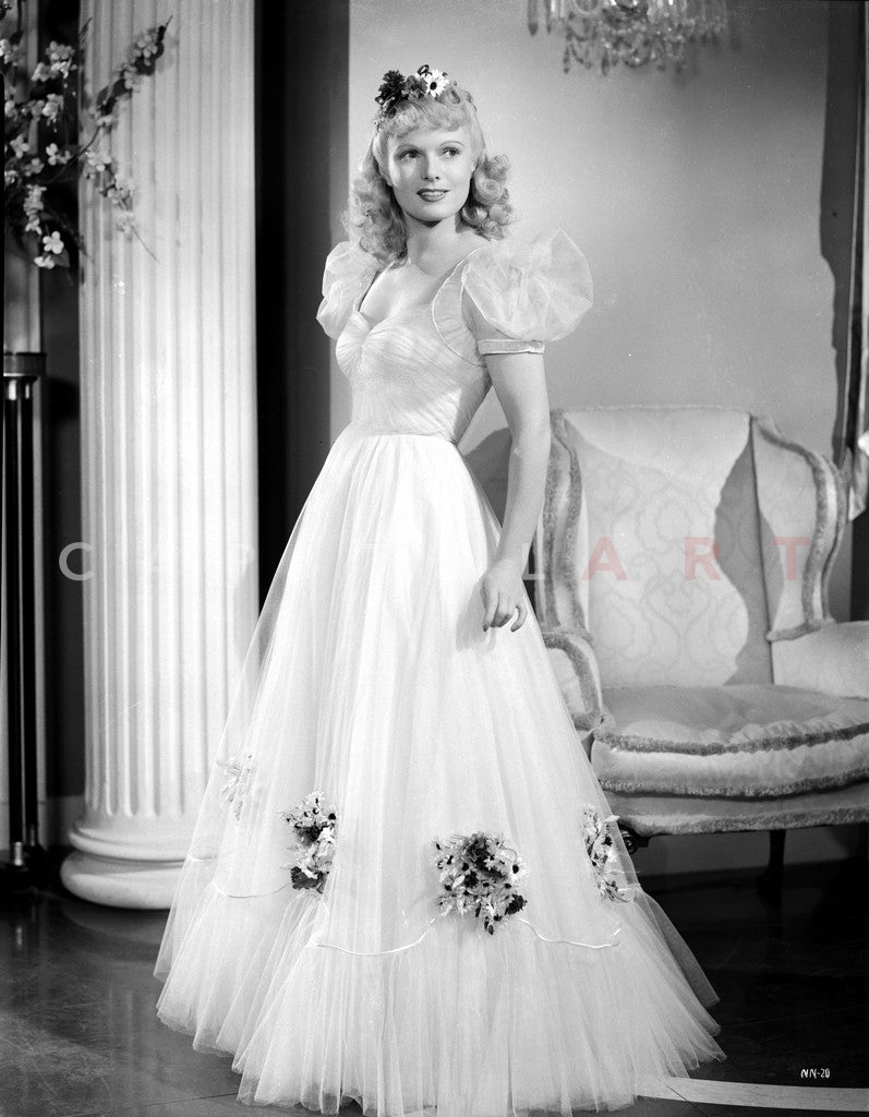 Anna Neagle on a Gown Premium Art Print