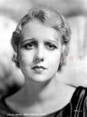 Anita Page on a See Through Shawl Portrait Premium Art Print
