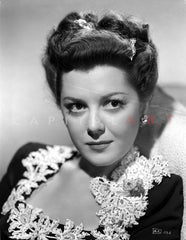 Ann Rutherford Showing a Good Smile in a Portrait Premium Art Print