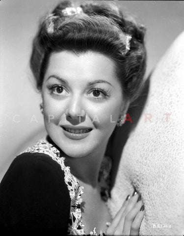Ann Rutherford Leaning on a Soft Surface Premium Art Print