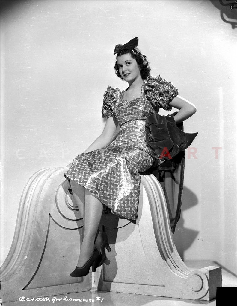 Ann Rutherford Seated in Classic Premium Art Print