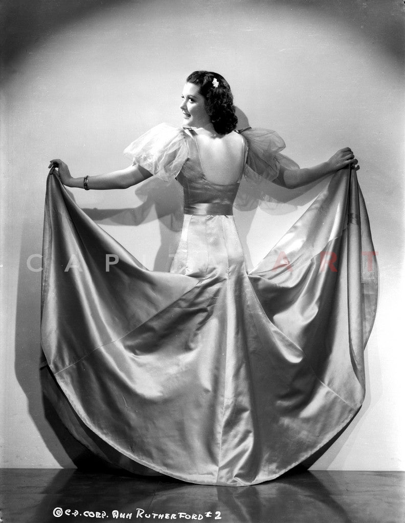 Ann Rutherford Spreading Her Long Gown Premium Art Print