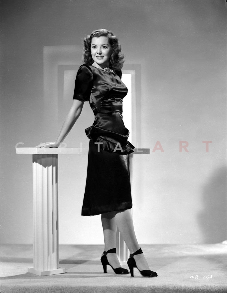 Ann Rutherford wearing a Black Dress and Shoes Premium Art Print