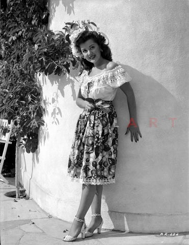 Ann Rutherford Leaning on a Curved Wall Premium Art Print