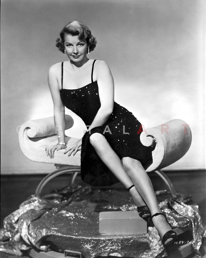 Ann Sheridan sitting Elegantly on the Chair Premium Art Print