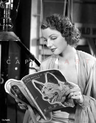 Ann Sheridan wearing a Tunic with Beaded Necklace Premium Art Print