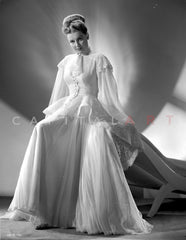 Ann Sheridan wearing a High Low Gown Premium Art Print