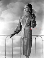 Ann Sheridan wearing a Coat Dress Premium Art Print