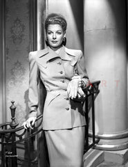 Ann Sheridan wearing an Animal Themed Coat Premium Art Print