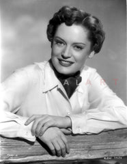 Alexis Smith sitting and wearing a Black Dress and Gloves Premium Art Print