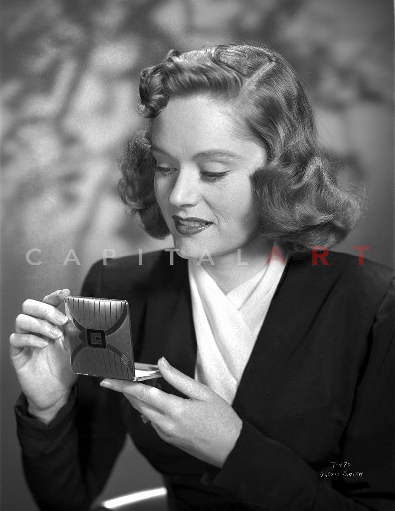 Alexis Smith Looking in a Small Mirror Premium Art Print