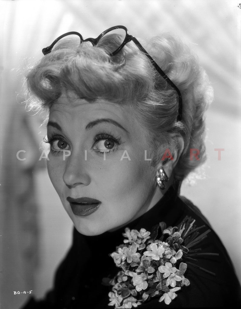 Ann Sothern Using Eyeglasses Premium Art Print